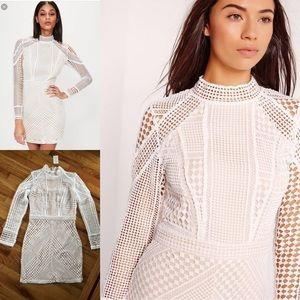 Missguided Bodycon White Dress- NEW